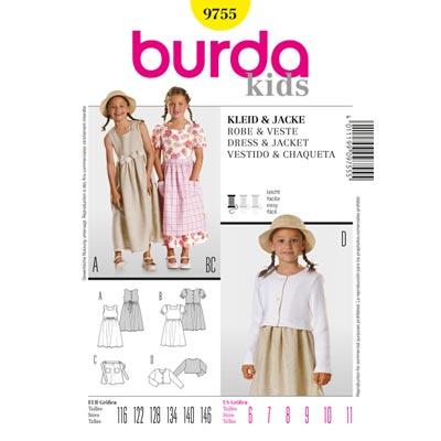 Kleid | Jacke, Burda 9755 | 116 - 146