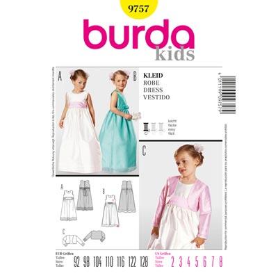 Kleid | Bolero, Burda 9757 | 92 - 128
