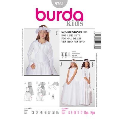 Kommunionkleid, Burda 9761 | 128 - 164