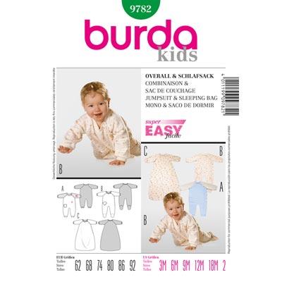 Baby Overall | Schlafsack, Burda 9782 | 62 - 92