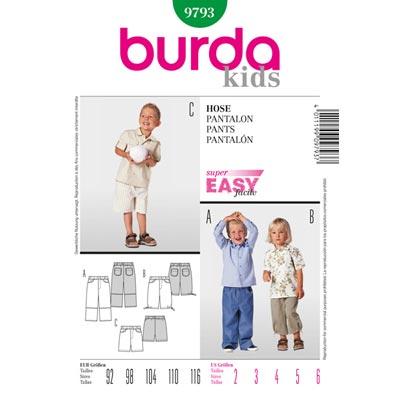 Hose, Burda 9793 | 92 - 116