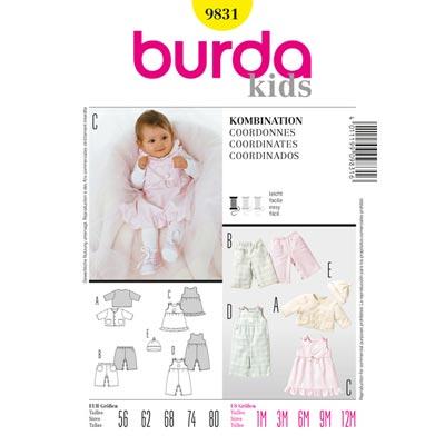 Jacke | Hose | Kleid | Mütze Burda 9831 | 56 - 80