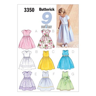Kinderdirndl, Butterick 3350 | 92 - 104