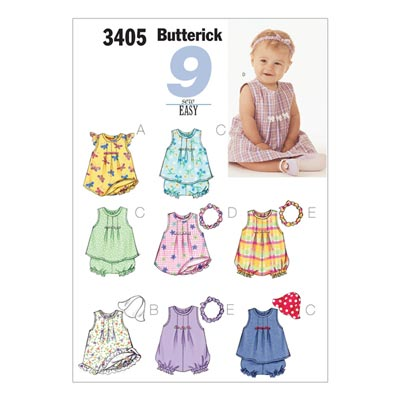 Babykleider, Butterick 3405 | 42 - 48