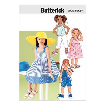 Kinderkleid / Top, Butterick 3477 | 122 - 134