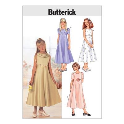 Mädchenkleider, Butterick 3714 | 128 - 140