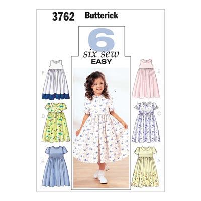 Mädchenkleider, Butterick 3762 | 122 - 134