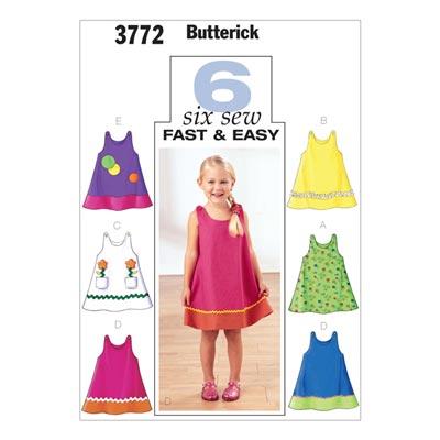 Kinderkleid, Butterick 3772 | 110 - 122