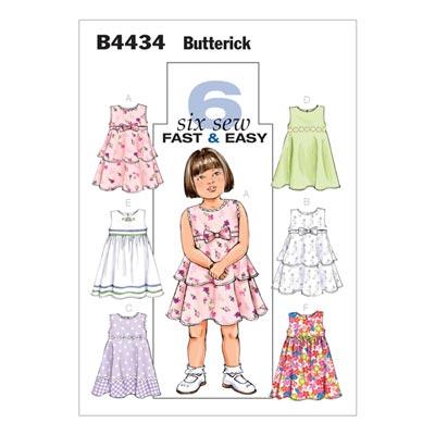 Kinderkleid, Butterick 4434 | 110 - 122