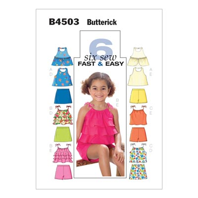 Kindertop / Rock, Butterick 4503 | 122 - 134