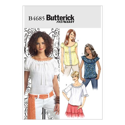 Top, Butterick 4685 | 34 - 40