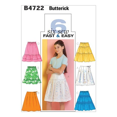 Mädchenrock, Butterick 4722 | 128 - 140