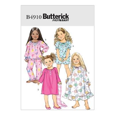 Kinderschlafwäsche, Butterick 4910 | 122 - 134