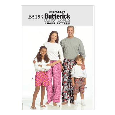 Nachtwäsche, Butterick 5153 | 104 - 156