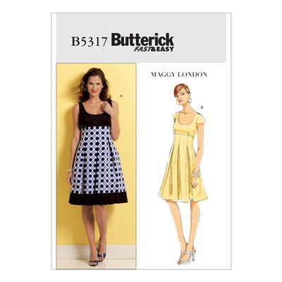 Kleid, Butterick 5317 | 34 - 40