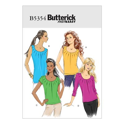 Top, Butterick 5354 | 40 - 46