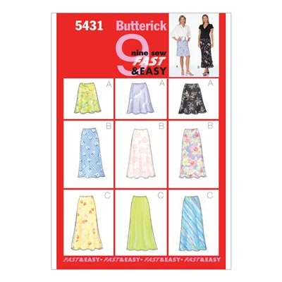 Rock, Butterick 5431 | 38 - 42