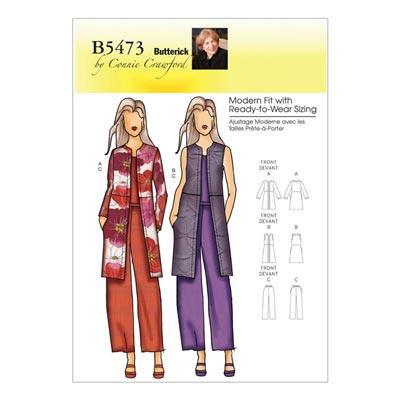 Plus Size - Jacke/Weste/Hose, Butterick 5473 | 50