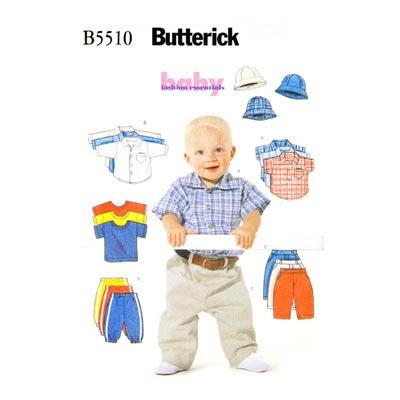 Babyshirt / Hose / Hut, Butterick 5510 | 46 - 71