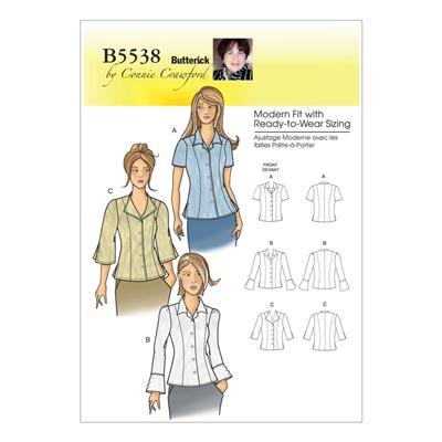 Plus Size - Top, Butterick 5538 | 50 - 58