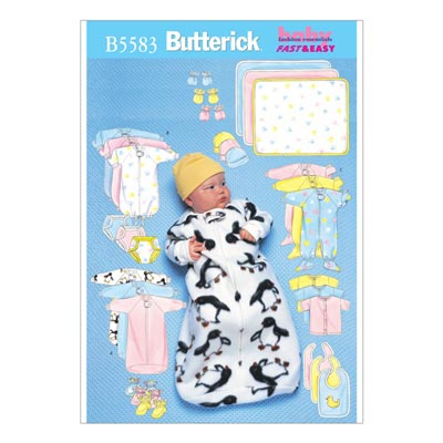 Babystrampler | Kleid | Shirt, Butterick 5583 | 74 - 80