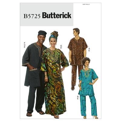 Tunika/Kaftan/Hose, Butterick 5725  | XL - 3XL
