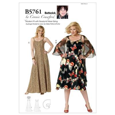 Kleid, Butterick 5761 | 32 - 48