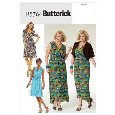 Plus Size - Kleid, Butterick 5764 | 52 - 58