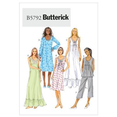 Nachtwäsche, Butterick 5792 | 32 - 40