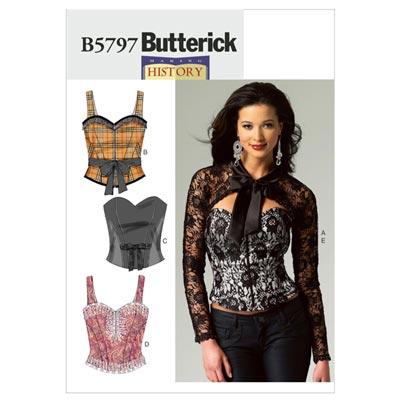 Korsage, Butterick 5797 | 40 - 48
