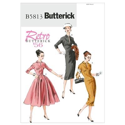 Vintage - Kleid 1956, Butterick 5813 | 40 - 48