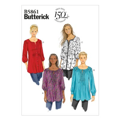 Tops/Blusen, Butterick 5861 | 44 - 50