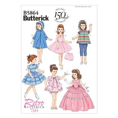 Vintage - Puppenbekleidung 45 cm 1956, Butterick