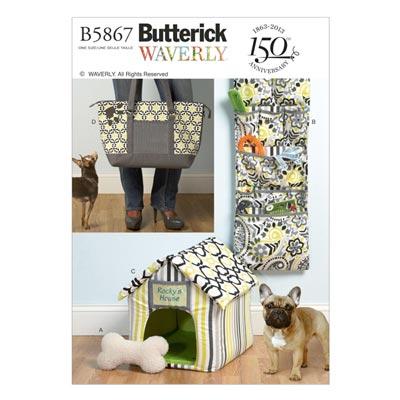 Hundetasche/Organizer/Haus, Butterick 5867