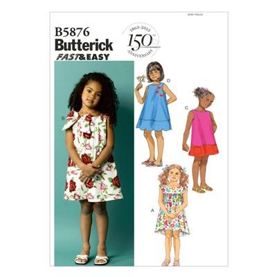 Kinderkleid, Butterick 5876 | 104 - 122
