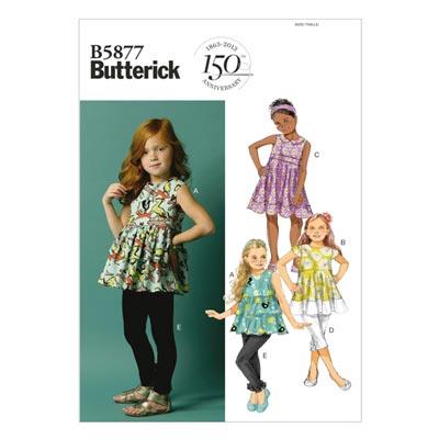 Kinderkleid / Tunika, Butterick 5877 | 122 - 134