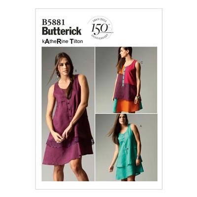 Kleid, Butterick 5881 | 34 - 42