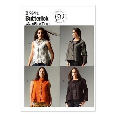 Top, Butterick 5891 | 34 - 42