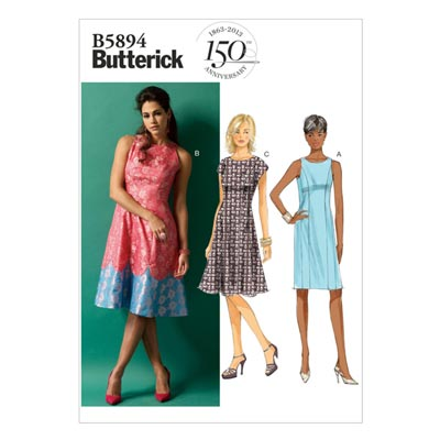 Kleid, Butterick 5894 | 34 - 42
