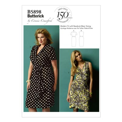 Plus Size - Kleid, Butterick 5898 | 2XL - 6XL