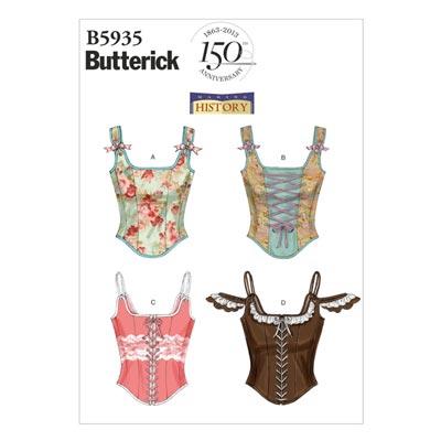 Historische Korsage, Butterick 5935 | 30 - 38