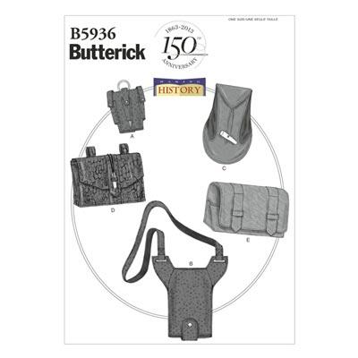Historische Taschen, Butterick 5936 | One Size