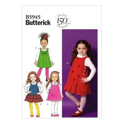 Kinderkleid, Butterick 5945 | 122 - 134