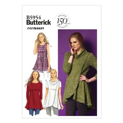 Top, Butterick 5954 | 32 - 40