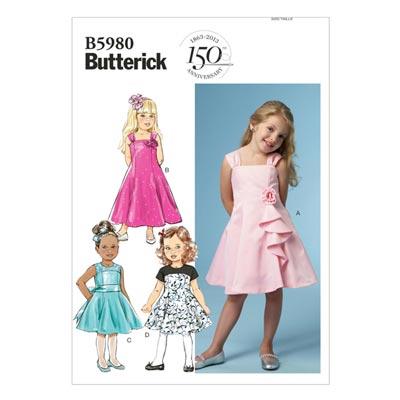 Kinderkleid, Butterick 5980 | 122 - 134
