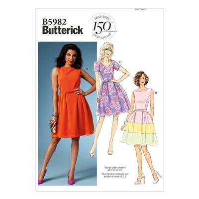 Kleid, Butterick 5982 | 34 - 42