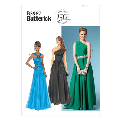 Abendkleid, Butterick 5987 | 42 - 50