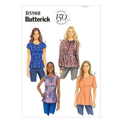 Top, Butterick 5988 | 34 - 42