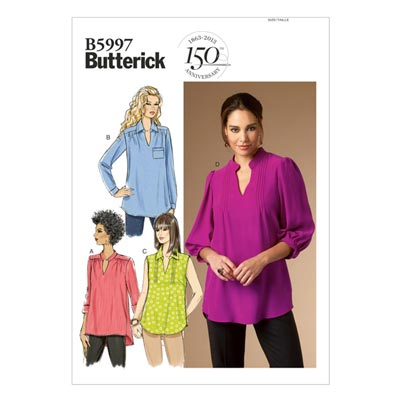 Top, Butterick 5997 | 34 - 42