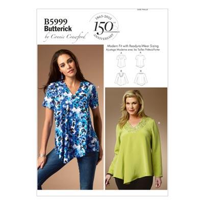 Plus Size - Top, Butterick 5999 | 2XL - 6XL